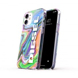 【取扱終了製品】DIESEL Clear Case Digital Holographic SS21 iPhone 12 mini Holographic/White