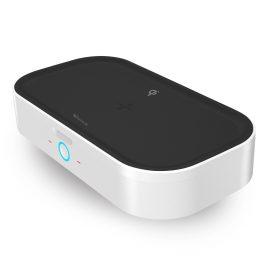 UUNIQUE/ZEUS Qi充電器付 除菌BOX <ブラック>