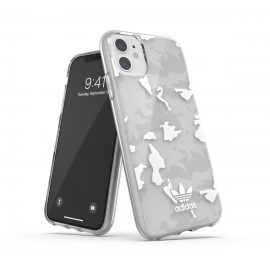 adidas Originals Snap Case Camo Clear AOP SS21 for iPhone 11 clear/white