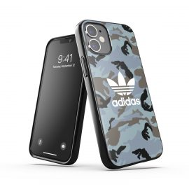 adidas Originals Snap Case Camo AOP SS21 for iPhone 12 mini Hazy emeralds/ blue oxides