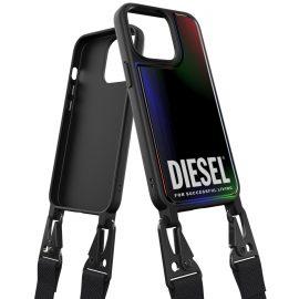 DIESEL Necklace case iPhone 13 Pro Holographic/Black