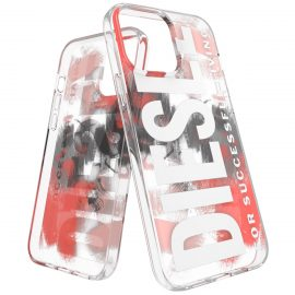 DIESEL Clear Military Brush iPhone 13 Pro Max Red